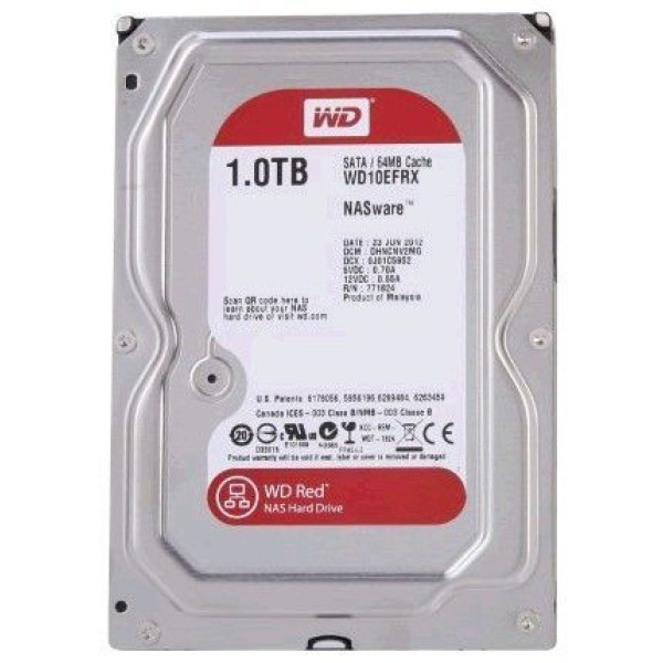Жесткий диск Western Digital 1Tb Caviar Red (WD10EFRX)