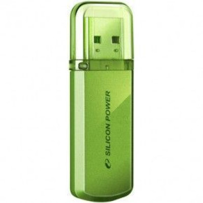 USB Flash-накопитель 32Gb (Silicon Power, Helios 101) Green (SP032GBUF2101V1N)