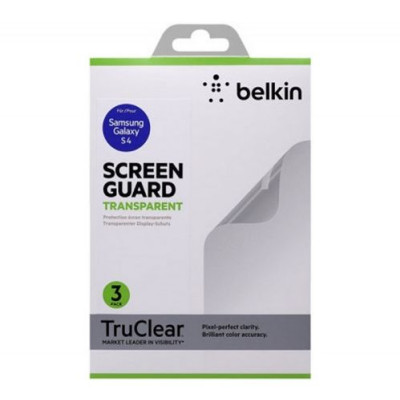 Защитная пленка для Samsung Galaxy S4 BELKIN Screen Overlay Clear 3in1 (F8M596vf3)