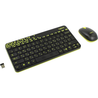 Клавиатура+мышь Logitech Wireless Combo MK240 Nano Black RUS (920-008213)