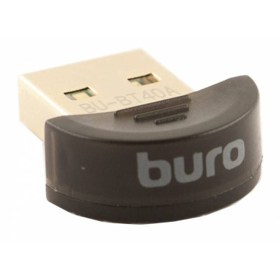 Адаптер Bluetooth (Buro, Bluetooth v4.0+EDR, округлый, USB2.0) (BT40A)