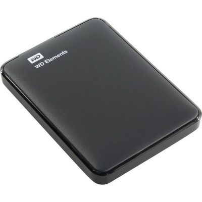 Внешний жесткий диск Western Digital 1Tb USB3.0 Elements Black (WDBUZG0010BBK-WESN)