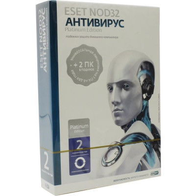 ПО ESET NOD32 Antivirus Platinum Edition - лицензия на 2 года (NOD32-ENA-NS(BOX)-2-1)