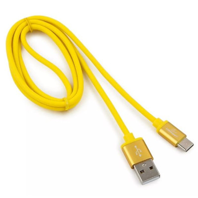 Кабель USB2.0 AM -> USB2.0 Type-C, 1m (Cablexpert) желтый (CC-S-USBC01Y-1M)