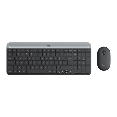 Клавиатура+мышь Key+Mouse Logitech MK470 Slim Wireless Graphite (920-009206)