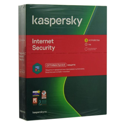 ПО Kaspersky Internet Security Multi-Device Russian, 3-Device 1 year Base Box (KL1939RBCFS)